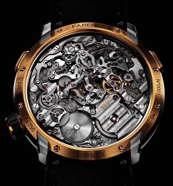 Fabergé Visionnaire Chronograph gold model case back