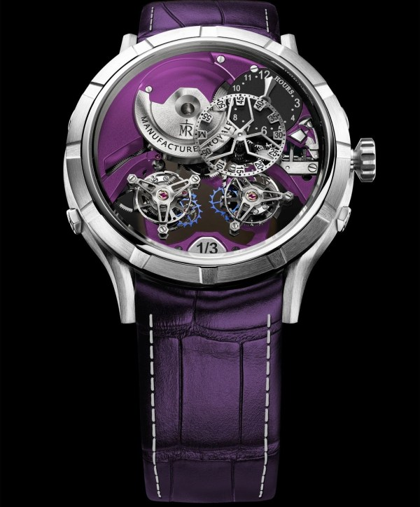 Manufacture Royale 1770 'Micromegas' Révolution - New Editions with purple decor and silvered dial