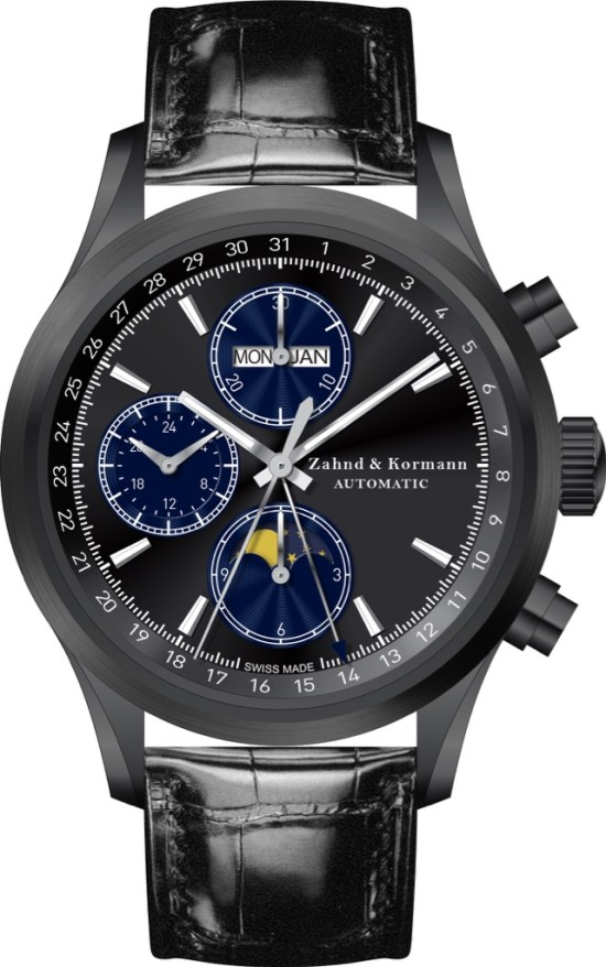 Zahnd & Kormann ZK No. 1 – Swiss Made Automatic Chronograph Featuring Full Calendar and Moonphase