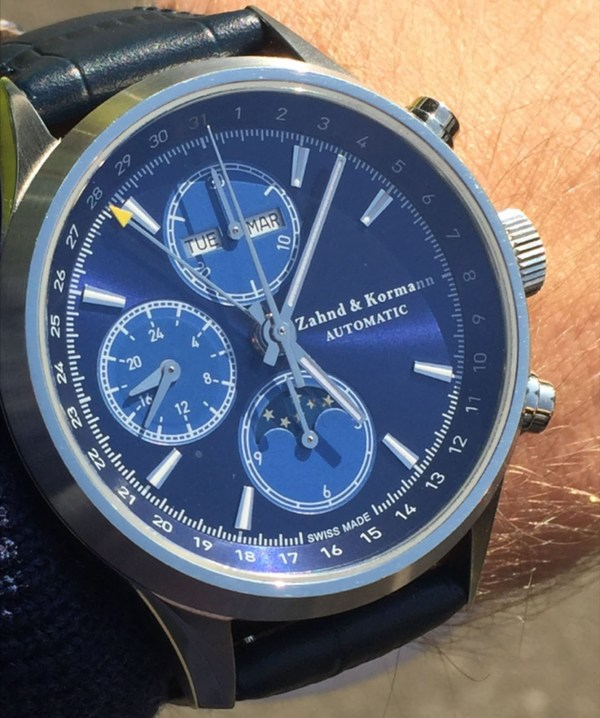 Zahnd & Kormann ZK No. 1 Automatic Chronograph Featuring Full Calendar and Moonphase