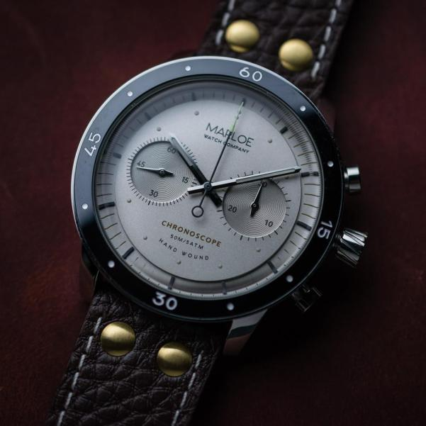Marloe Watch Company Lomond Chronoscope vintage vanilla dial