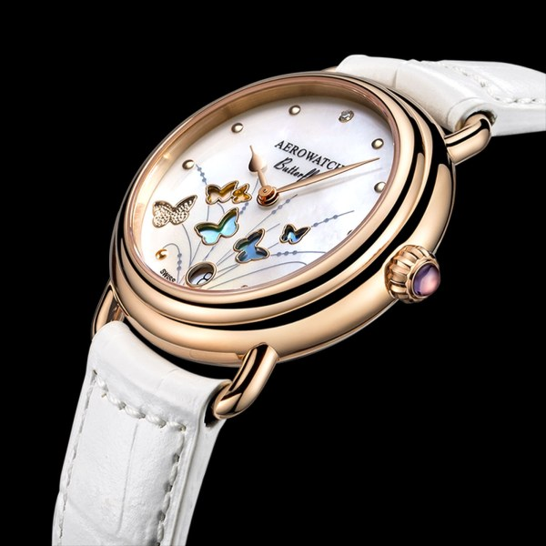 Aerowatch 1942 Butterfly Limited Edition quartz watch for women