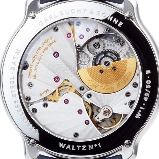 Carl Suchy & Söhne Waltz N°1 Skeleton watch case back