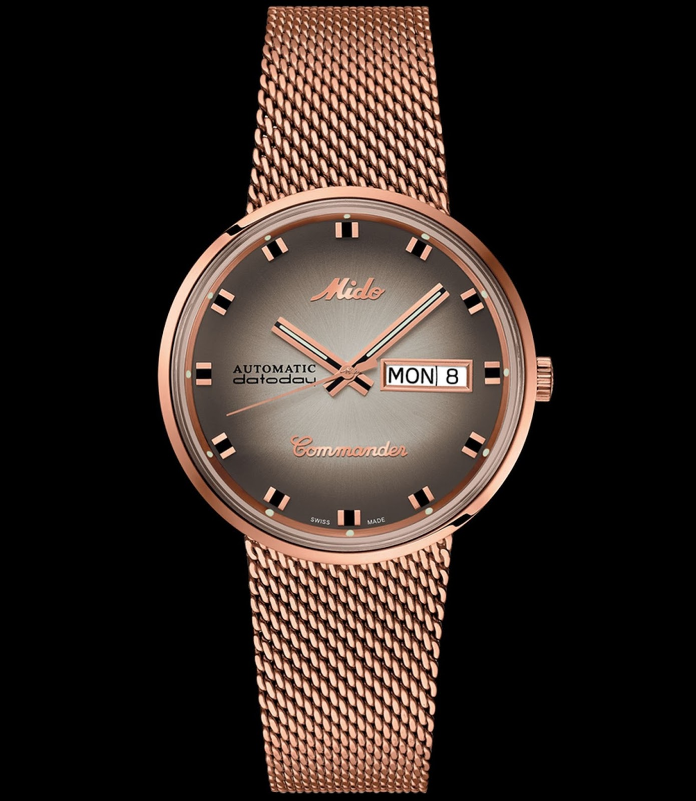 Mido Commander Shade Special Edition In Rose Gold Pvd Case M8429 3 Complete Shades Of Collaboration Limited This Is Available A Personalised Presentation And Due To Be Launched April 2018