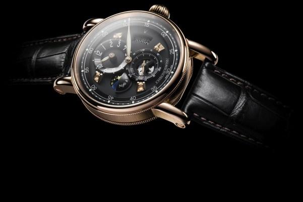 Chronoswiss Flying Regulator Night and Day watch CH-8761R-BKBK 18-karat red gold case galvanic black dial