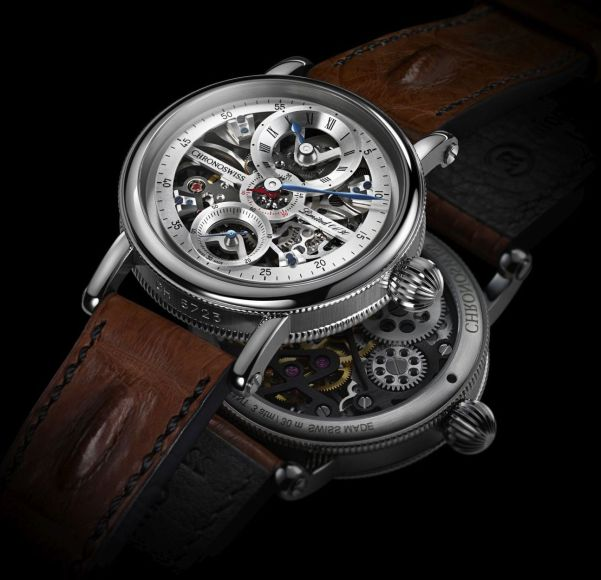 Chronoswiss Flying Grand Regulator Skeleton Limited Edition watch CH-6723S-SISI Stainless steel case silver dial