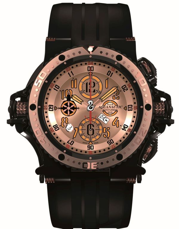 Aquanautic Superking diving watch with chronograph and dual time zone