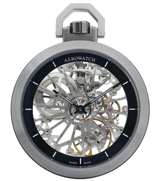 AEROWATCH Cobweb Pocket Watch Ref. 50818 AA01 SQ Skeleton manual-wound