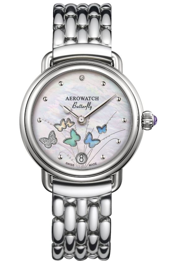 Aerowatch 1942 Butterfly Limited Edition Ref. A 44960 AA05 ladies watch with bracelet