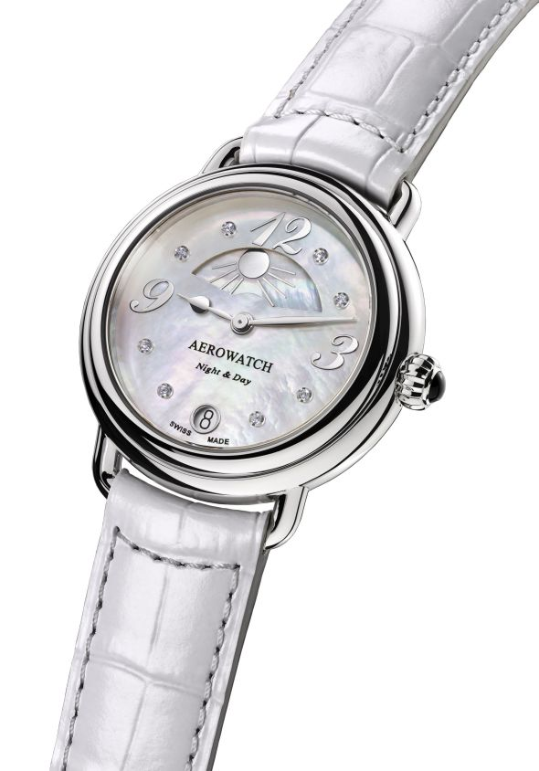"""Aerowatch Collection 1942 """"Night & Day"""" Ladies' Watch Ref. A 44960 AA04"""