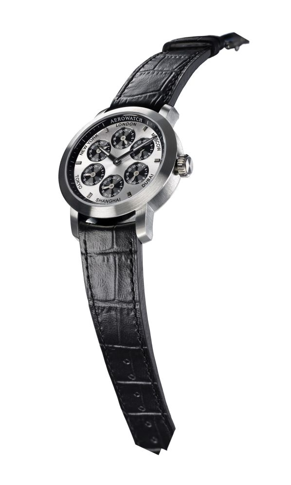 Aerowatch Renaissance Swiss made wristwatch with 7 Time Zones