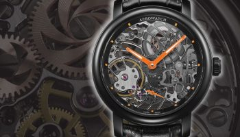 Aerowatch Renaissance Orange Tornado Ref. A 50931 NO08 mechanical manual wound skeleton watch