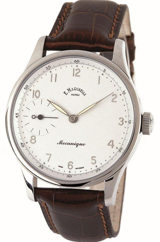 E. MARINELLA Piazza Vittoria Hanwound Small Seconds watch