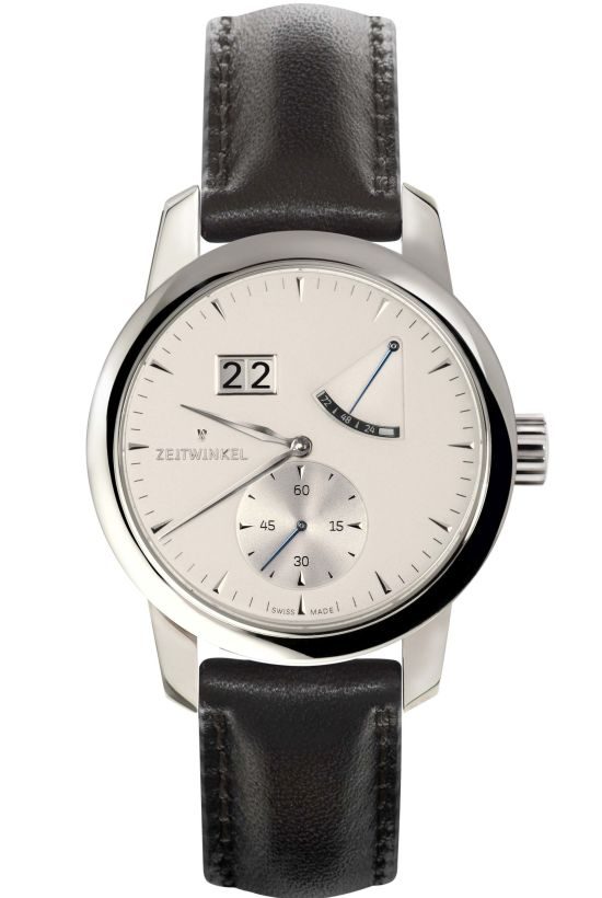 ZEITWINKEL 273° watch with date, small seconds and power reserve