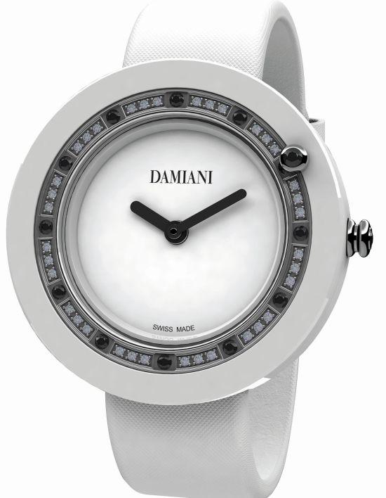 Damiani Belle Époque White Ceramic and Black Diamonds watch