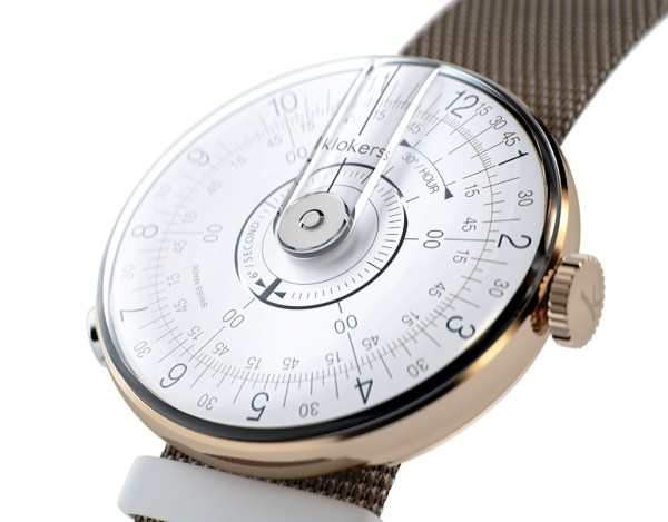 Klokers KLOK-08 watch with white dial