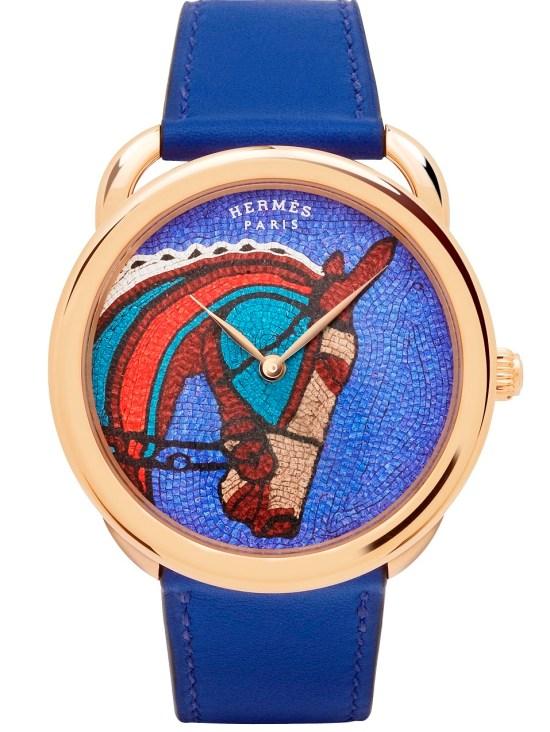 Hermès ARCEAU Robe du Soir Limited Edition watch with rose gold case