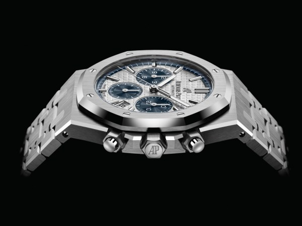 """Audemars Piguet Royal Oak Self-winding Chronograph 38mm, New Model in Stainless Steel with """"Grande Tapisserie"""" Patterned Dial"""