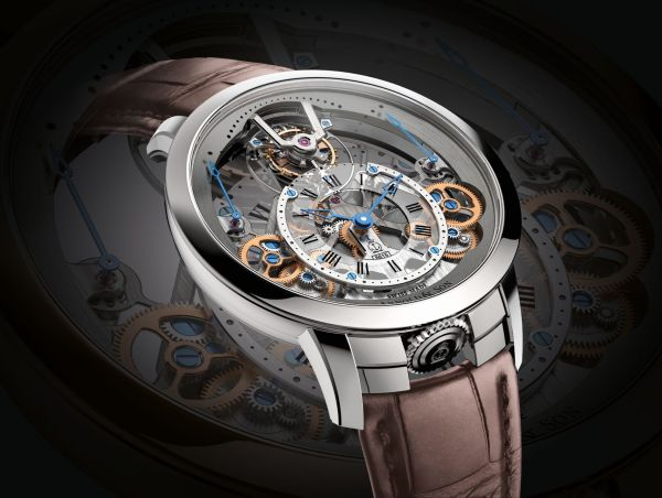 Arnold and Son Time Pyramid Tourbillon watch stainless steel version