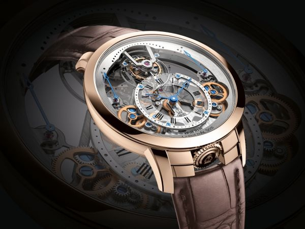 Arnold and Son Time Pyramid Tourbillon watch 18K red gold version