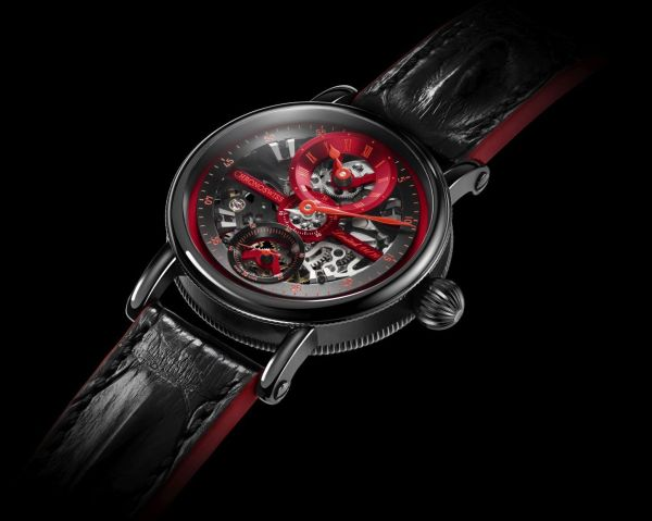 Chronoswiss Flying Grand Regulator Skeleton 2019 Limited Edition watch CH-6725S-REBK Stainless steel case with DLC, red and black dial