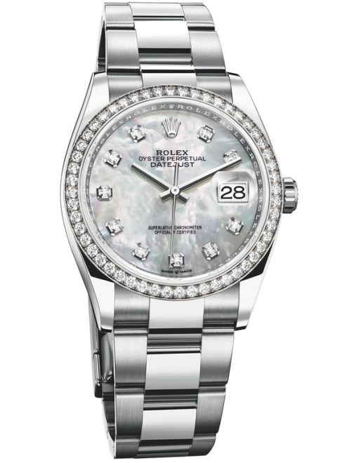 Rolex Oyster Perpetual Datejust 36, White Rolesor Version with White Mother-of-pearl Dial