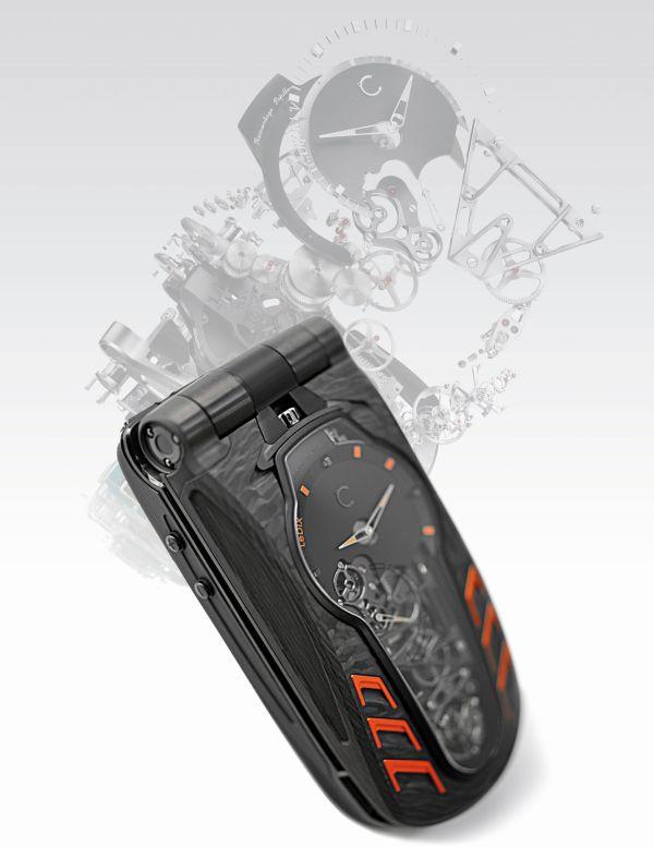 Celsius X VI II LeDIX Furtif luxury cellphone with tourbillon