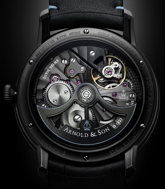 Arnold and Son DSTB Only Watch 2019 Unique Piece case back view