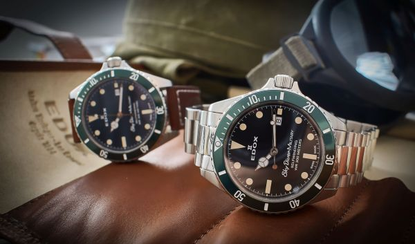 Edox Skydiver Military automatic watch