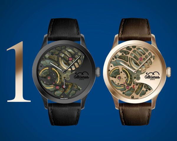 Altanus Sculpture Limited Edition hand-wound mechanical skeleton watch