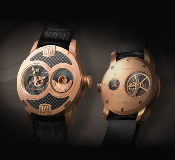 Gresso Grand Wind Skeleton Limited Edition Watch gold