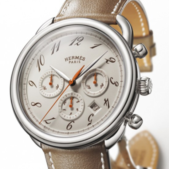 HERMES Arceau Chrono Alezan watch with Automatic ETA 2894 calibre