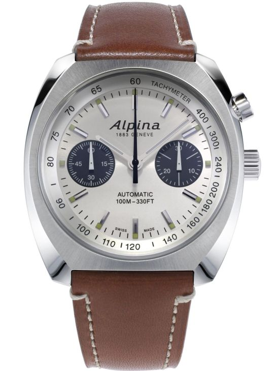 Alpina Startimer Pilot Heritage Chronograph silver dial