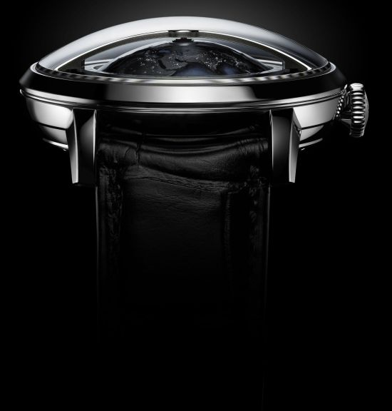 Arnold and Son Globetrotter Night watch in stainless steel
