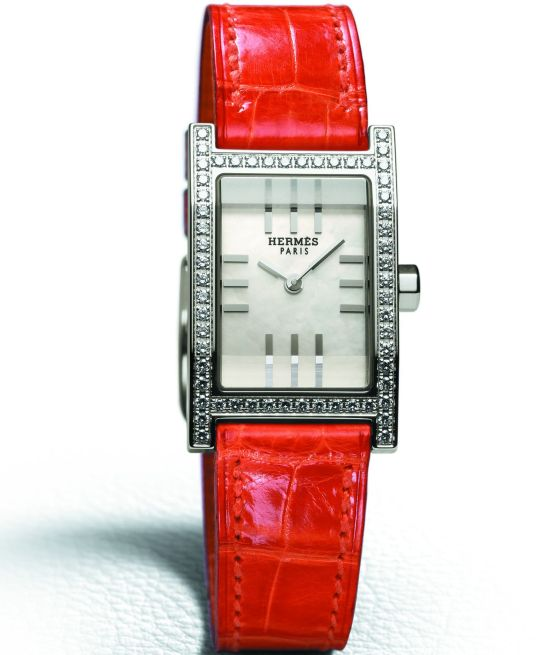 HERMES Tandem watch diamond set version 2003