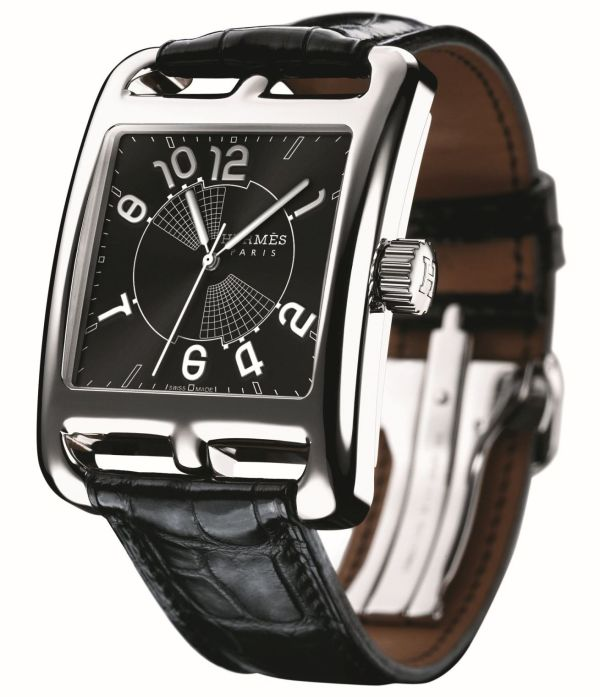 """Hermès Cape Cod H1 """"Grand Hours"""" watch stainless steel"""