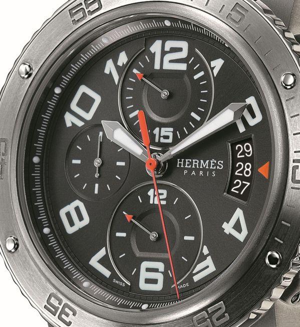 Hermès Clipper 44mm Mechanical Chronograph Steel and titanium case Valjoux caliber