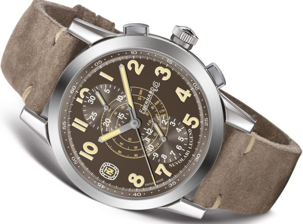 "Eberhard & Co. Nuvolari vintage-inspired chronographLegend ""The Brown Helmet"""