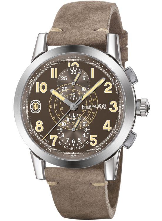 "Eberhard & Co. Nuvolari vintage-inspired chronographLegend ""The Brown Helmet"""