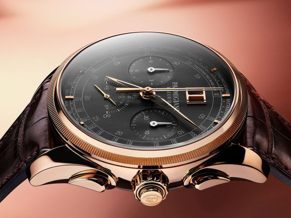 Crown and pushers - Parmigiani Fleurier Tonda Chronor Slate Limited Edition watch