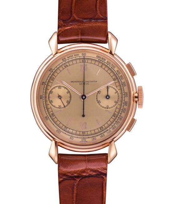 Vacheron Constantin Les Collectionneurs 18K Pink Gold 30-Minute Counter Chronograph Wristwatch, 1942