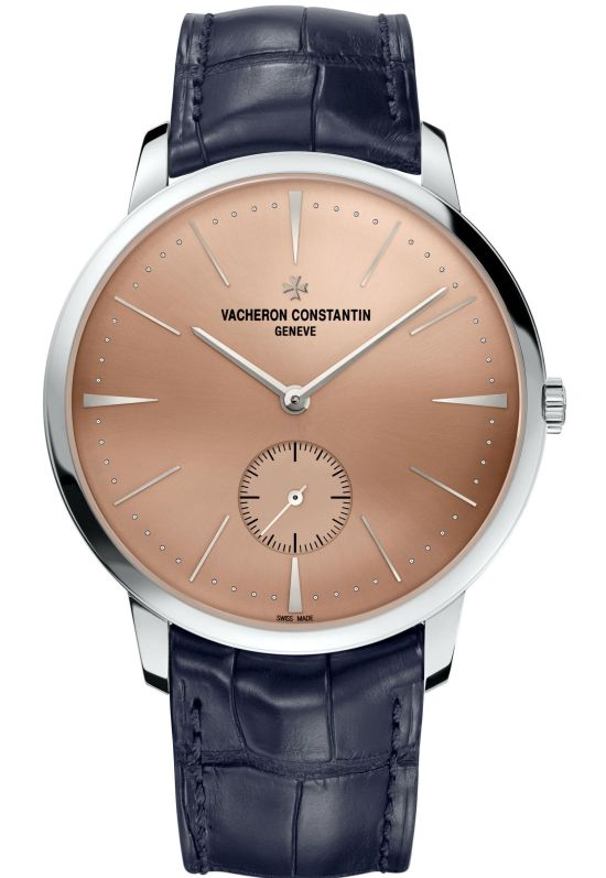Vacheron Constantin Patrimony Middle East Edition: New and exclusive dial paying tribute to the Middle East. Platinum Case, Manual wound movement and Salmon metal dial