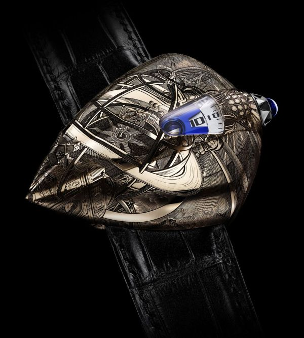 De Bethune Maestri'Art DW5 Armilia - Watch Inspired by the graphic novel series The Obscure Cities by the Belgian designer and scenographer François Schuiten and his friend, writer Benoît Peeters