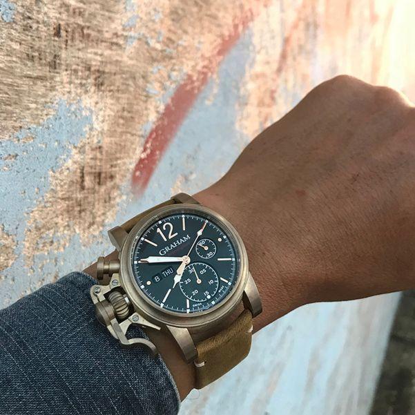 Graham Chronofighter Vintage Bronze watch