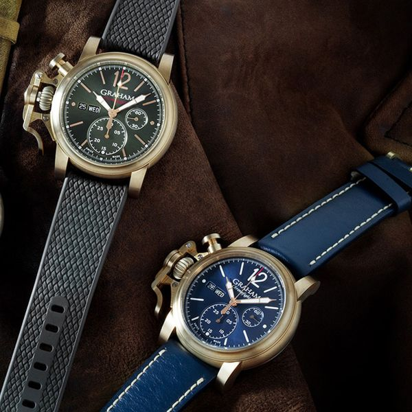 Graham Chronofighter Vintage Bronze watch