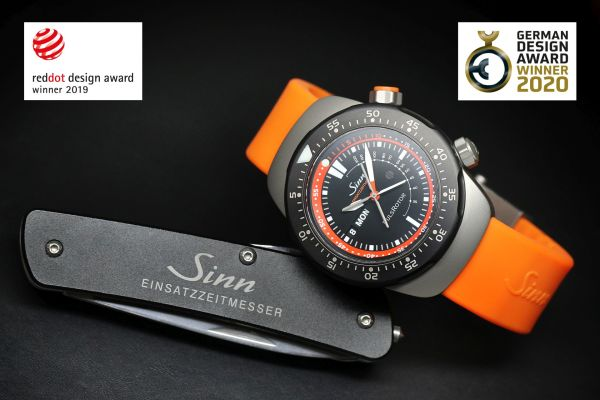 EZM 12 and Hunting Watch 3006 Watches by Sinn Spezialuhren receive awards for outstanding design quality at the German Design Award: Excellent Product Design 2020
