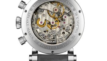 Speake Marin London Chronograph Only Watch Edition Caseback view Valjoux 92 calibre