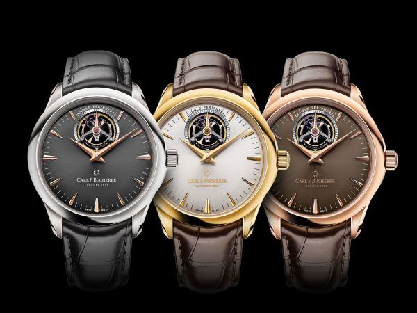 Carl F. Bucherer Manero Tourbillon DoublePeripheral New Models (In Yellow, Rose or White Gold)