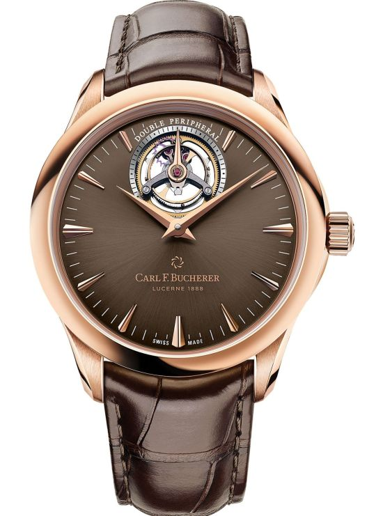 Manero Tourbillon DoublePeripheral, Rose Gold Model with Brown Dial