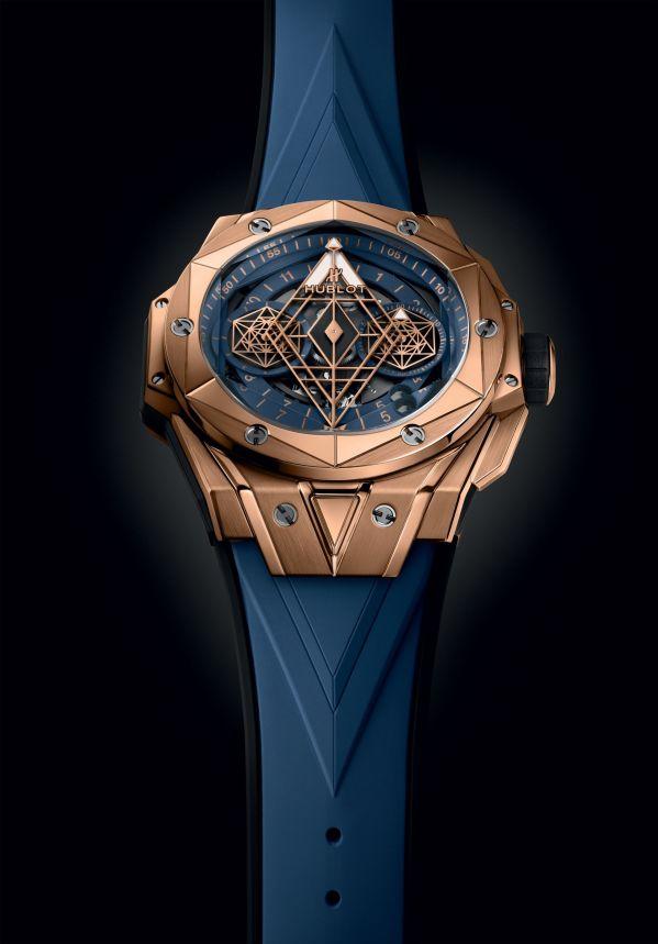 HUBLOT BIG BANG SANG BLEU II LIMITED EDITION king gold blue model